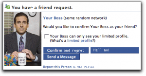 bad boss friend request scott