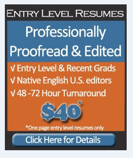 Affordable Resume Proofreading & Editing